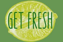 Key Lime - A fruity fresh drawn font Product Image 6