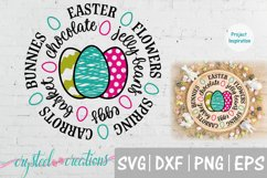 Easter Round SVG, DXF, PNG, EPS Product Image 1