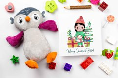Cute Christmas Clipart, Merry Christmas Girls Clipart Product Image 5