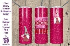 Valentine Gnomes 20 oz skinny Tumbler Sublimation File Product Image 1