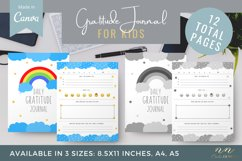 Kids Gratitude Journal Canva Template for Printable Products Product Image 1