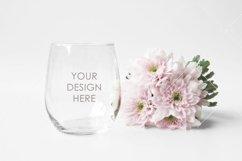 Wine Glass Mockup / Stemless Wine Glass Mockup Product Image 1