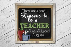 Teacher Square Print Product Image 3