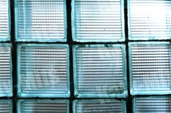 Old decorative biscay green glass blocks Product Image 1