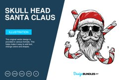 Skull Head Santa Claus Vector Illustration Product Image 1
