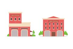 Fire Station Illustrations Product Image 1