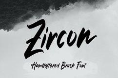 Web Font Zircon - Handlettered Brush Font Product Image 1