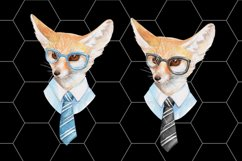 Cool fox. Watercolor clip art Product Image 3