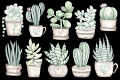 """Watercolor ClipArt """"Home Plants"""" Product Image 2"""
