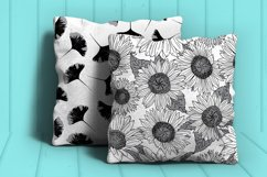 Black and White Seamless Repeat Nature Patterns Bundle Product Image 2