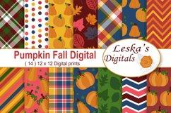 Pumpkin Digital Paper Product Image 1