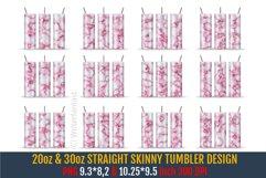20 oz & 30 oz STRAIGHT Skinny Tumbler Sublimation, Marble Product Image 1