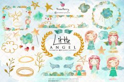 Watercolor Baby Angel Clipart | Drawberry CP030 Product Image 2