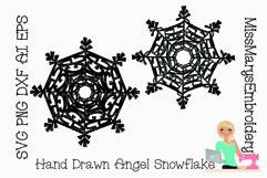 Angel Word Snowflake SVG | Angel SVG | Snowflake SVG | Product Image 2