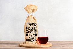 Wine Bag SVG Bundle, Christmas Wine SVG files for Cricut Product Image 12