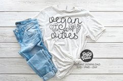 Vegan Vibes SVG PNG DXF Product Image 1