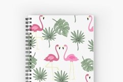 Valentines day seamless pattern Pink flamingo digital paper Product Image 12