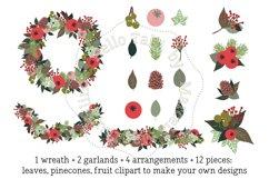 Christmas Wreath Clip Art Product Image 2