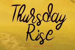 Thursday Rise Modern Calligraphy Product Image 1