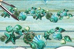 Turquoise ocean Seashell Product Image 3