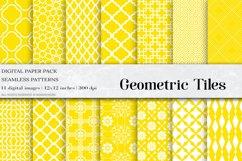 Yellow Geometric Tiles Digital Paper Product Image 1