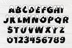 Snow Font SVG, Winter Svg, Christmas Alphabet Clipart Product Image 2