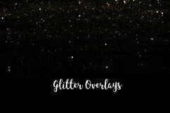 Yellow Glitter Overlays, Gold Glitter Bokeh Overlays Product Image 4