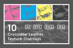 10 Crocodile Leather Texture Overlay Product Image 1