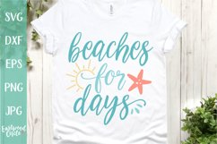 Beaches for Days - A Beach SVG Cut File for Crafters Product Image 1