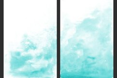 Teal Ombre Watercolor Backgrounds Product Image 2