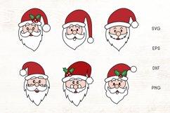 Santa Face SVG - Christmas Santa Face Cliparts Product Image 1