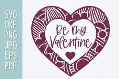 Be My Valentine Heart Mandala SVG Product Image 1