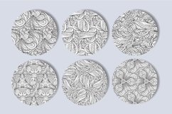 Fancy black and white seamless patterns set Product Image 3