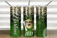 Graduation Skinny Tumbler Sublimation /Green / Class of Product Image 1