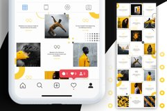 Black and yellow Instagram Puzzle Preset for Canva Product Image 9