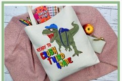 T-Rex Dinosaur Ready To Crush Third Grade Sublimation Product Image 2