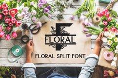 Floral Split Font - A Monogram Font Product Image 1