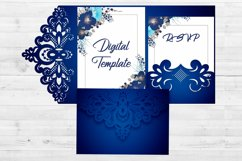 Lace wedding invitation template, Svg files for cricut Product Image 2