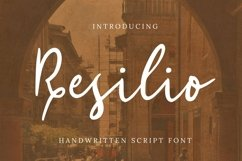 Web Font Resilio Font Product Image 1