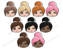 Mood 1 CUTE DOLLS Sweet Home Lady Boss Stickers PNG Files Product Image 2