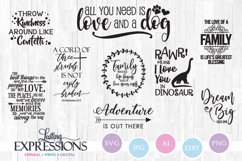 Set of 9 SVG Designs // Adventure and Family Quotes Product Image 1