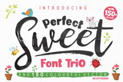 Perfect Sweet - Font Trio and 150 Colourful Vectors Product Image 1