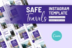 Safe Travels Instagram Canva Template Product Image 4