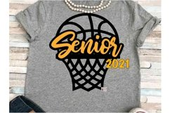 Basketball SVG DXF JPEG Silhouette Cameo Cricut Senior ball Product Image 1