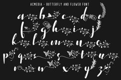 Acmedia Butterflies and Flowers Font Product Image 6