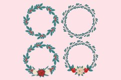 Christmas Flower Clip Art Product Image 4
