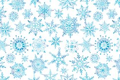 Watercolor snowflakes Product Image 4