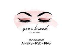 Lash Logo Design, Beauty Logo, Eyelash Logo, Lash Technician Product Image 1