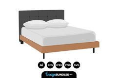 Bed Clipart Product Image 1