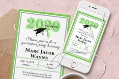 Invitation Template editable text - GREEN - Graduation 2021 Product Image 3